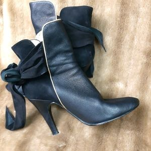 Betsey Johnson high heeled ankle boots leather